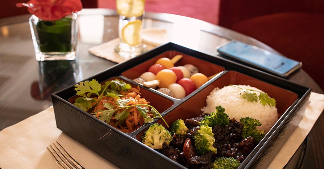 Boîtes-déjeuner Bento au Salon Raffles