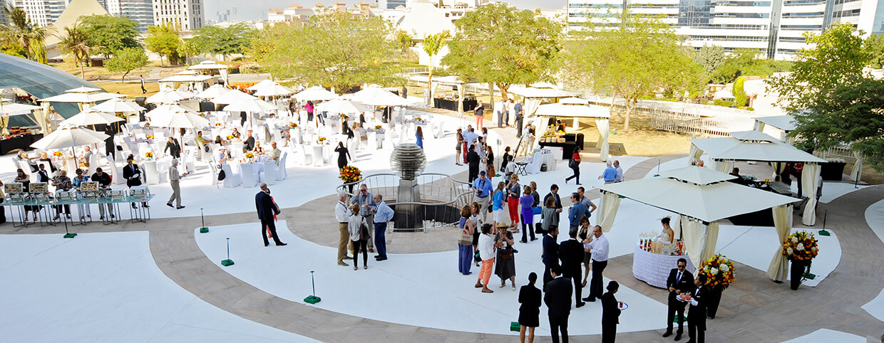 Raffles Garden, event set-up at Raffles Dubai
