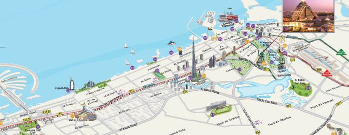 Raffles Dubai map