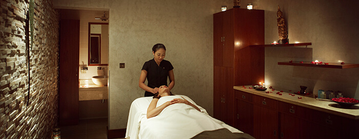 الغرف العلاجية بفندق رافلز دبي