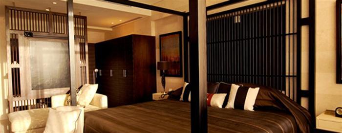 Спальня «Fire» президентского номера люкс в отеле Raffles Dubai