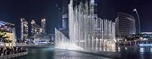 Бурдж-Халифа и фонтан Дубай в Raffles Dubai