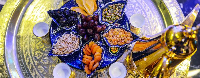 Традиционный Ифтар в ресторане «Azur» в отеле Raffles Dubai