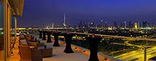 Терраса клубного номера люкс категории «Landmark» в отеле Raffles Dubai
