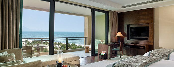 Grand Ocean View Room (twins) at Raffles Hainan