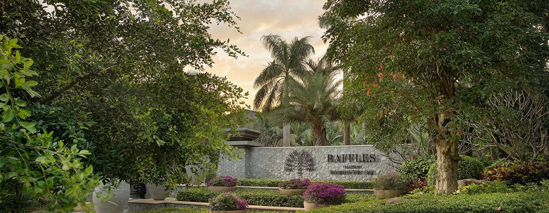 Вход в отель Raffles Hainan