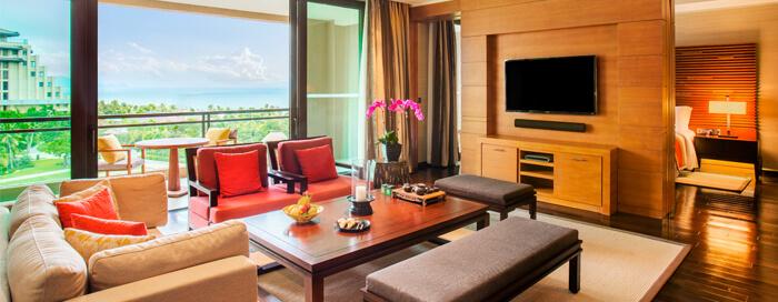 Люкс «Junior» с видом на залив в Raffles Hainan