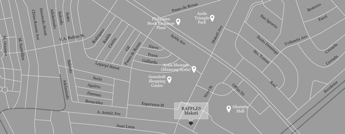 Mapa del Raffles Makati