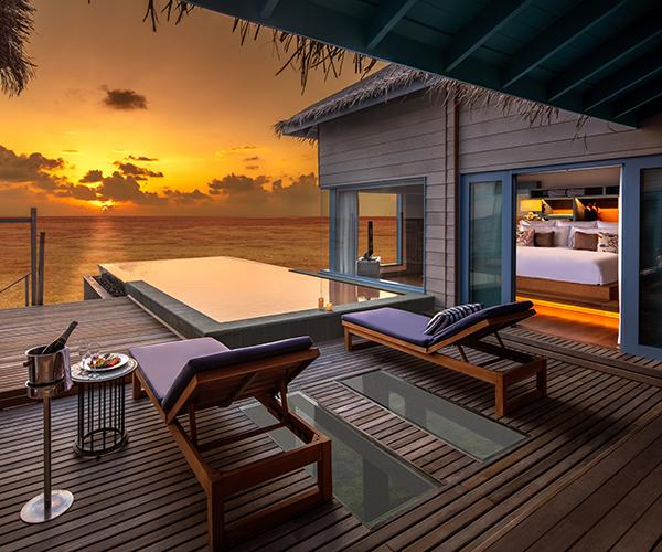 Sunset Overwater Villa With Pool Raffles Maldives Meradhoo Raffles Hotels Resorts