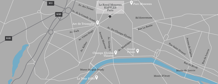 Carte du Royal Monceau, Raffles Paris