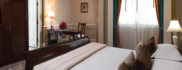 Salle de bains au Raffles Hotel Le Royal