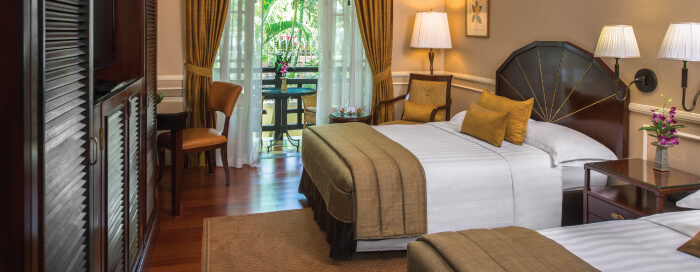 Chambres State au Raffles Hotel Le Royal