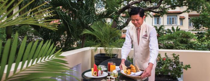 Suite avec balcon au Raffles Hotel Le Royal