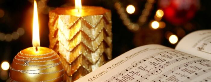 Chants de Noël et cérémonie d'allumage des lumières du sapin de Noël