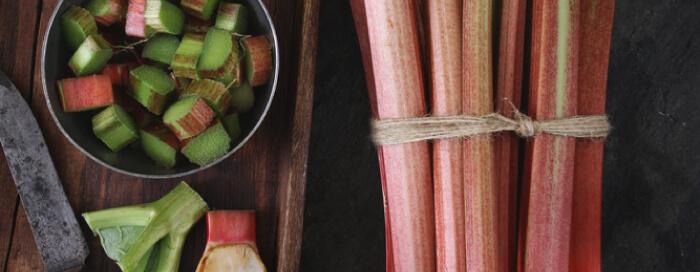 Menu de saison autour de la rhubarbe