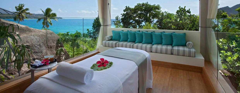 Soins de spa au Raffles Seychelles