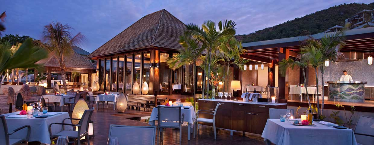 Curieuse Restayrant at Raffles Seychelles