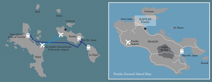 Raffles Seychelles(ラッフルズ セイシェルズ)の地図
