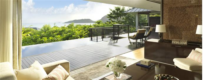 Villa avec vue au Raffles Seychelles