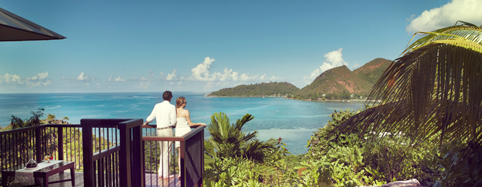 Terrasse de la villa au Raffles Seychelles