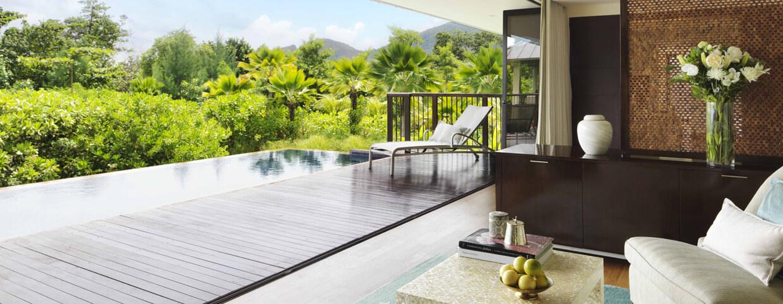 فيلا بإطلالة على الشاطئ في فندق رافلز سيشيل (Raffles Seychelles)