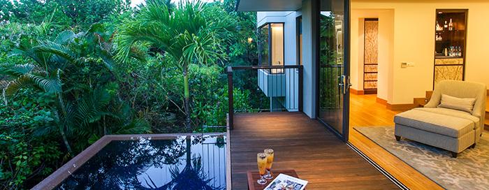 Villa avec piscine et vue sur le jardin au Raffles Seychelles