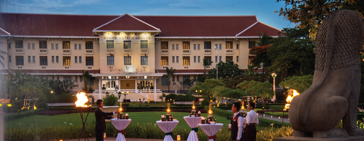 Jardin royal - Cocktail au Raffles Hotel d'Angkor