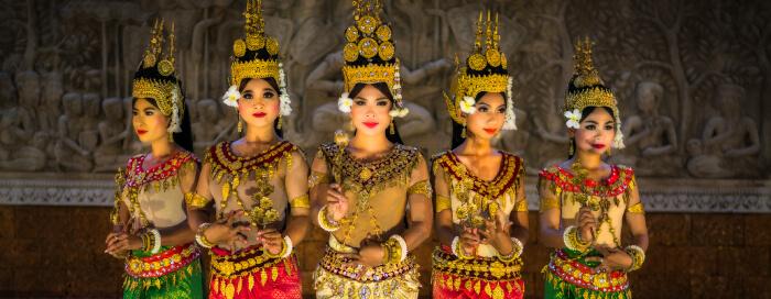 Raffles Hotel d'Angkor(ラッフルズ ホテル ダンコール)のアプサラ テラスの舞踊