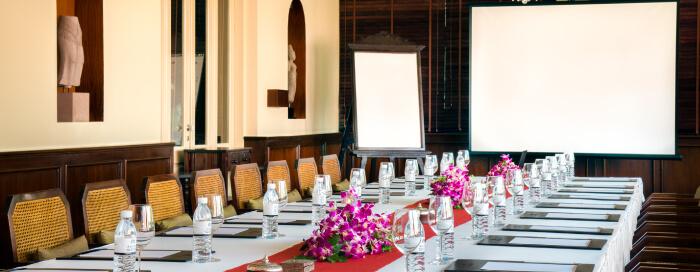 Raffles Hotel d'Angkor(ラッフルズ ホテル ダンコール)のル グランでのミーティング