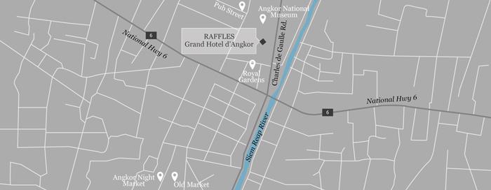 Plan du Raffles Grand Hotel d'Angkor