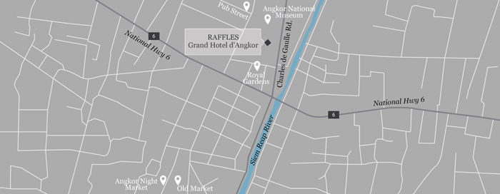 Raffles Grand Hotel d'Angkorの地図