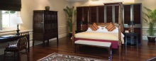 Two Bedroom Villa Living Room Staff at Raffles Hotel d'Angkor