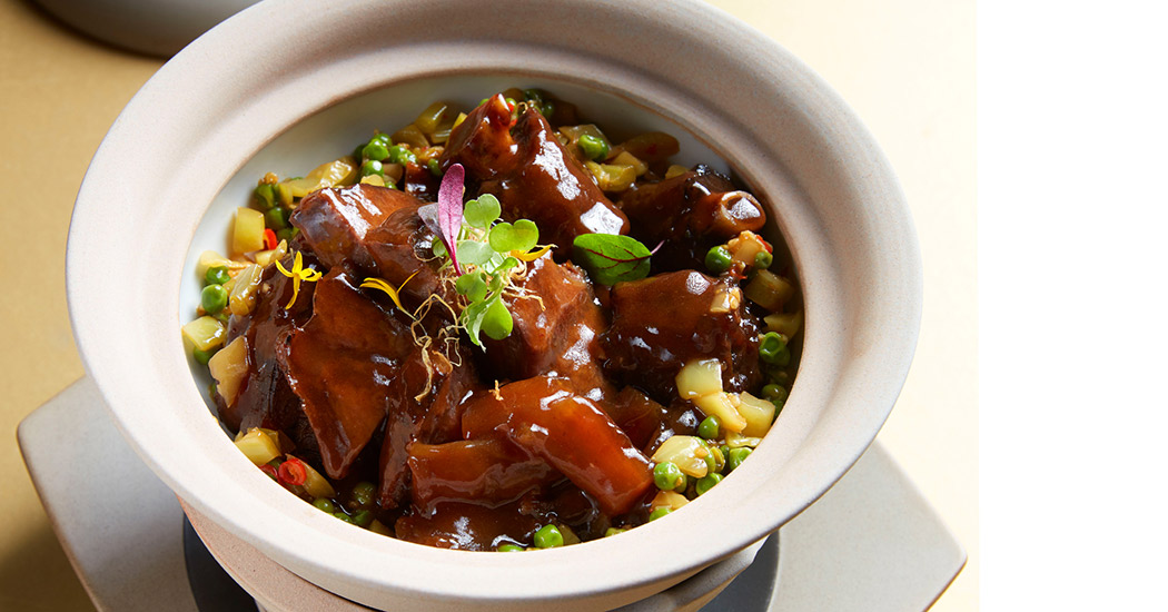 Braised Beef Cheeks, Tendon & Ox Tail with Sorghum Grains