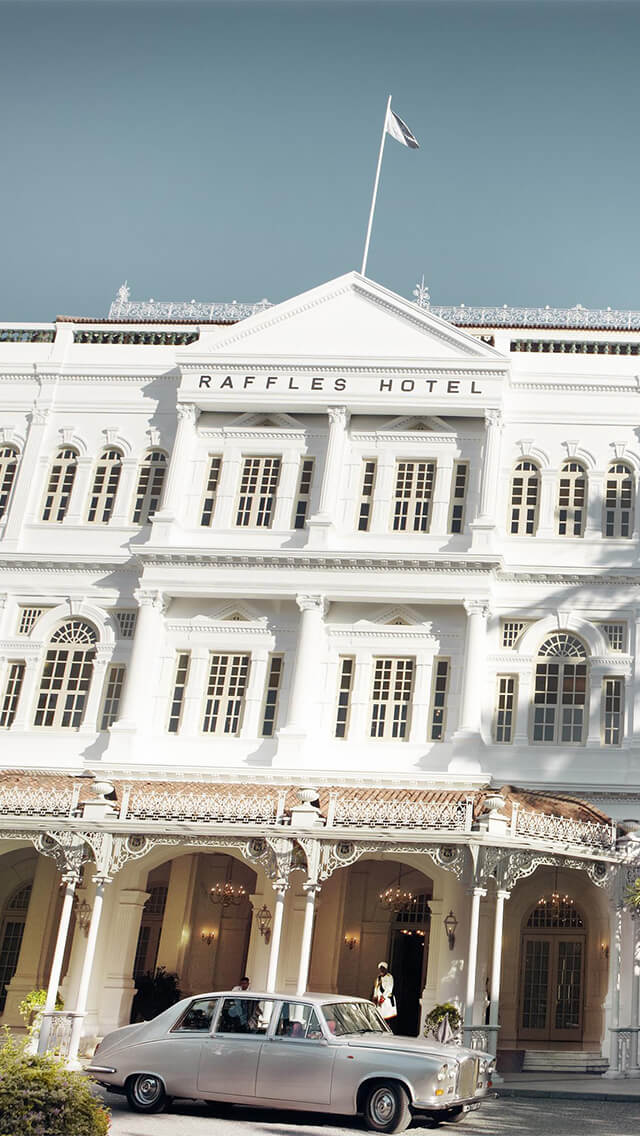 Raffles Hotel Singapore önden görünüm