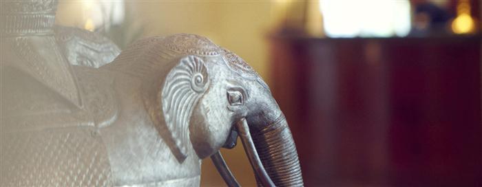 Elephant Statue at Raffles Singapore