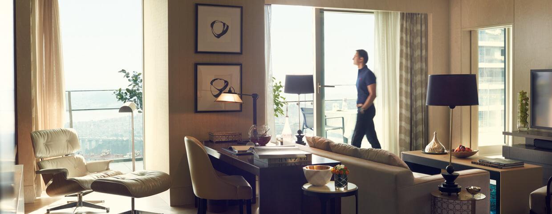 Гостиная люкса «Horizon» в Raffles Istanbul
