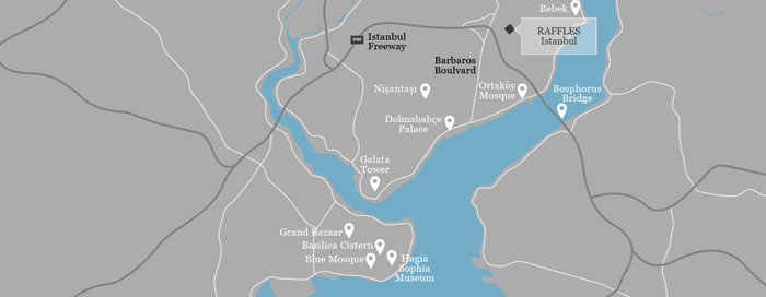Karte des Raffles Istanbul