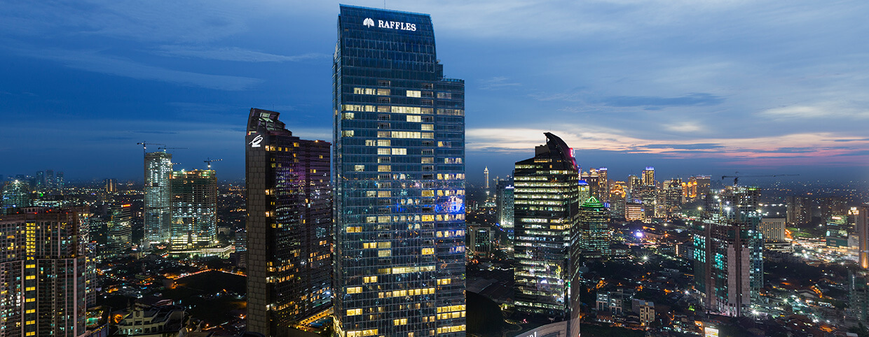 Jakarta City Skyline At Raffles