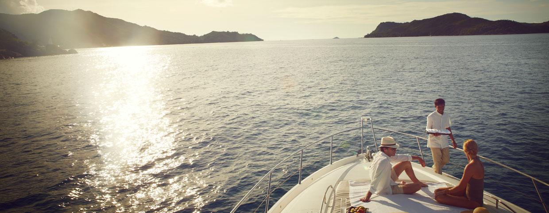 Yacht de luxe du Raffles Praslin, Seychelles