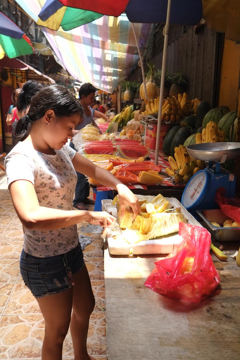 Fruit stalls in the Talipapa market