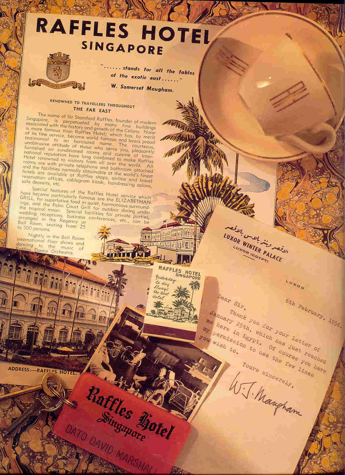memorabilia related to regular guest Somerset Maugham