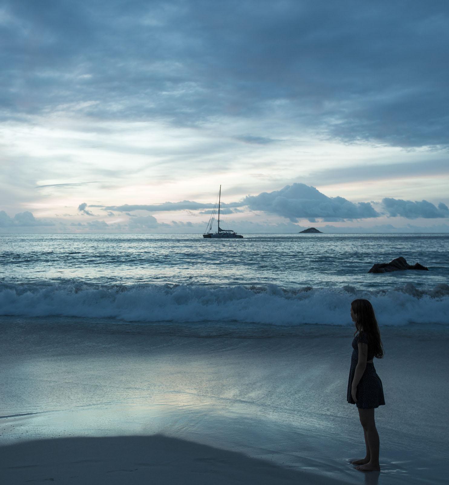 dusk at the evocative Lazio Beach