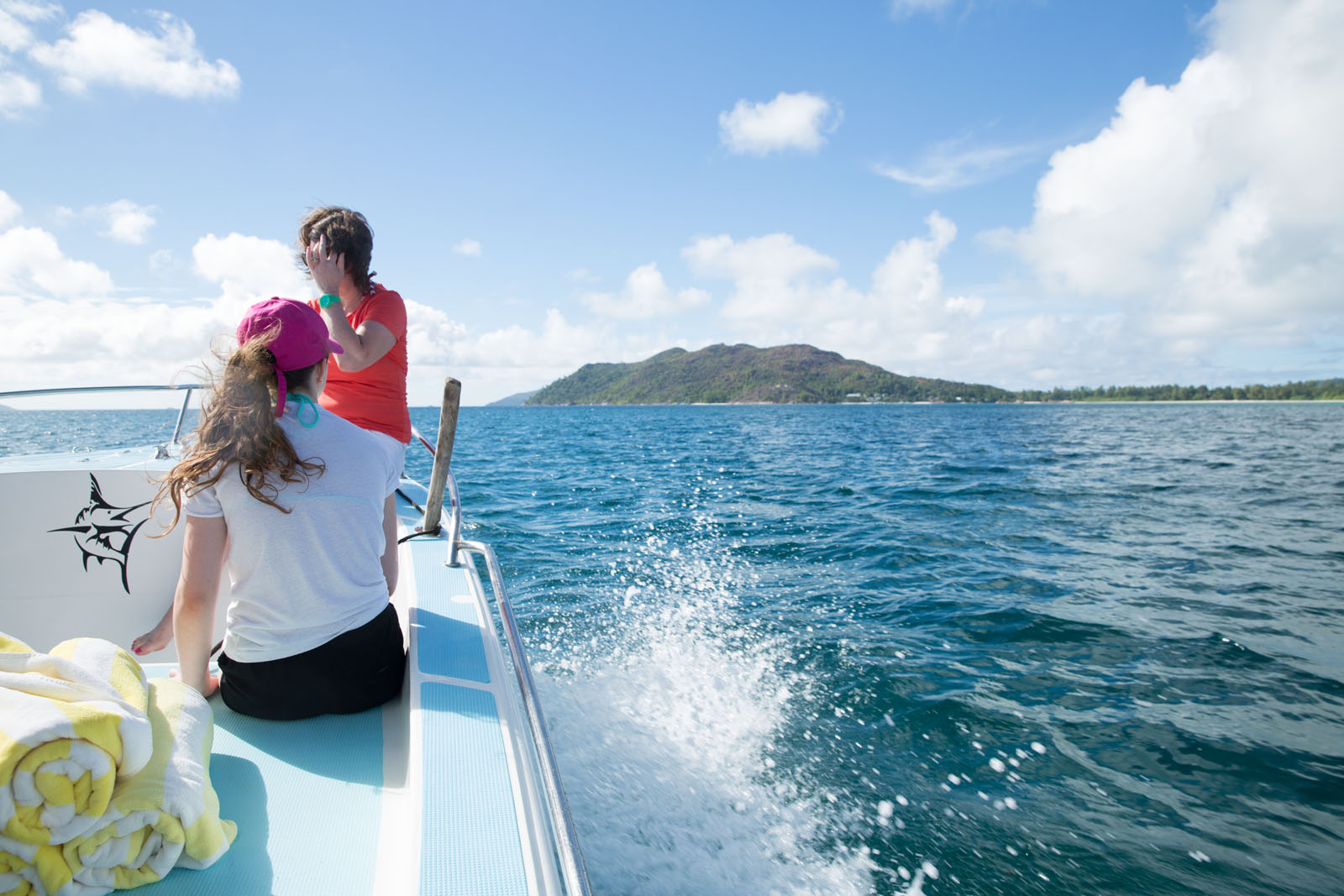 Eloise heads for the charming island of La Digue
