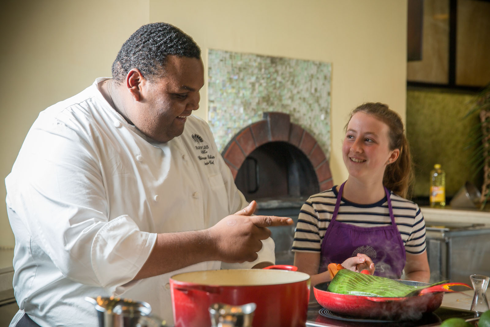 Eloise enjoys a mouthwatering cookery class with Robin Etienne