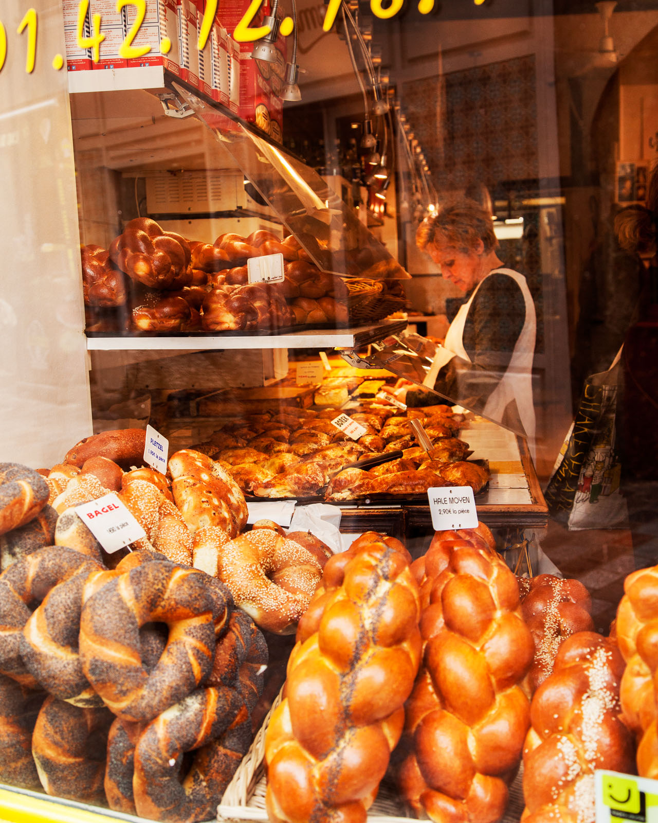 the old Jewish neighbourhood of the Marais is full of bakeries, delis and restaurants