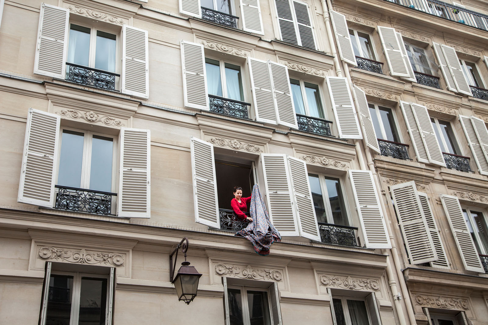 the rich architecture in the Marais district includes 18th-century buildings with wrought-iron railings