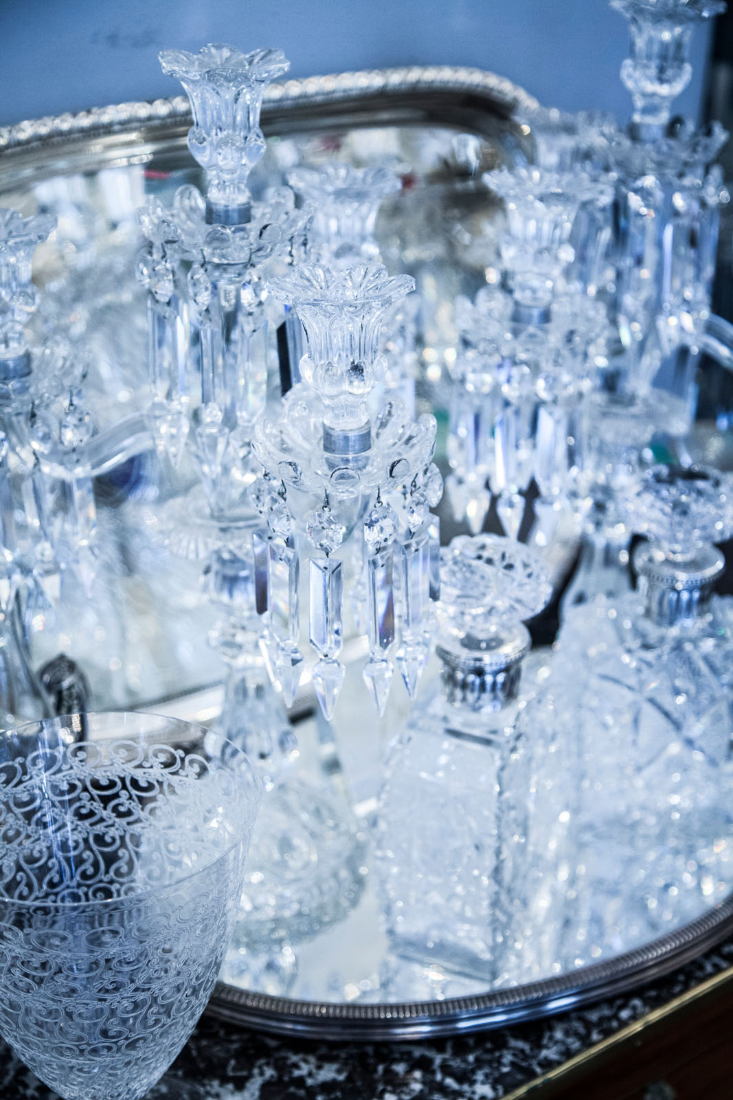Cassiopée in Le Village Saint-Paul is a treasure trove of vintage glassware and tableware