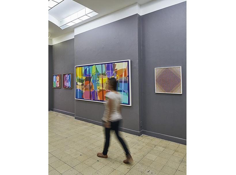 interior of the Jaime Reyes Roque exhibition