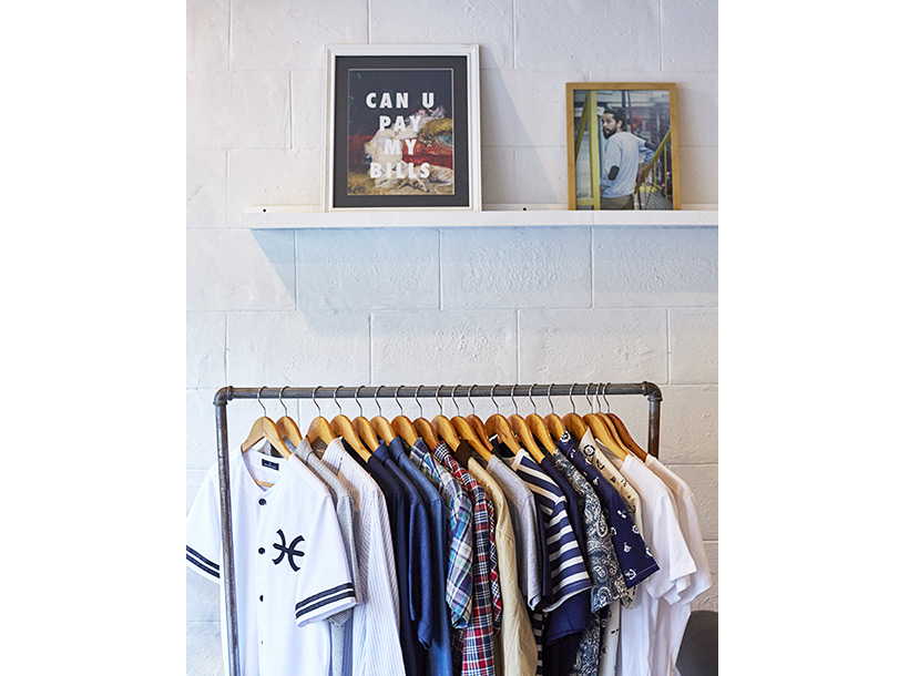 stylish mens tshirts on a rack at Cubao X