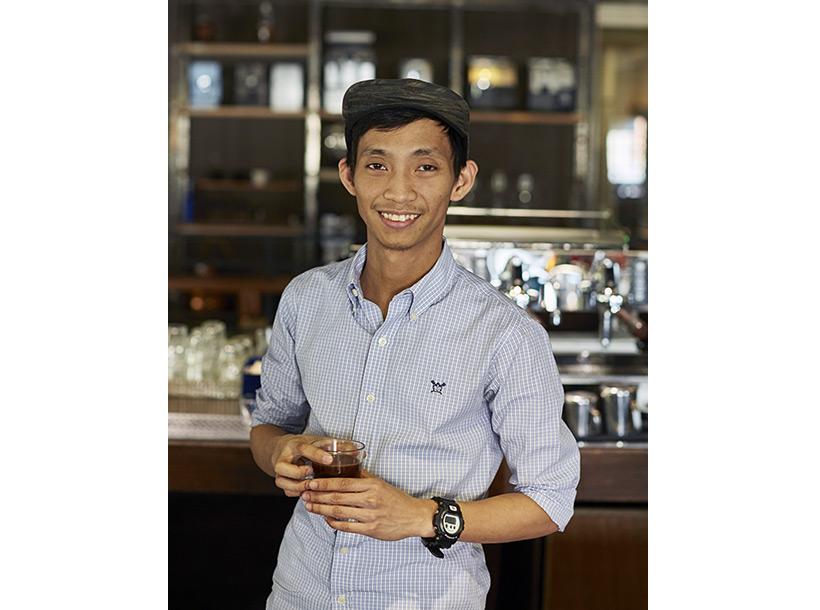 Image of barista Mike Simangan at EDSA Beverage Design Group